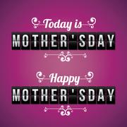 Happy Mothers Day Design Stock Illustration