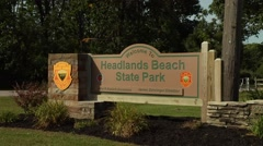 Headlands Beach State Park, Mentor Ohio Stock Footage