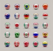 sphere flags - stock illustration
