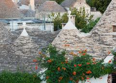 Trulli, the typical old houses in alberobello. Stock Photos