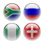 sphere flags. - stock illustration