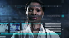 medical motion graphics touch screen technology diagnosis laboratory healthcare - stock footage