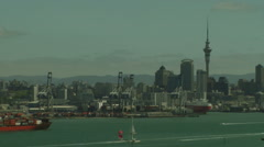 Timelapse - Auckland harbor Stock Footage