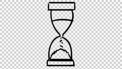 Sand Clock animation with transparent background Stock Footage