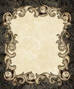 Stock Illustration of ornate engraved baroque frame