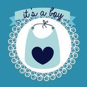 Boy design over blue bakground vector illustration Stock Illustration