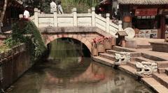Ancient Bridge Lijiang Stock Footage