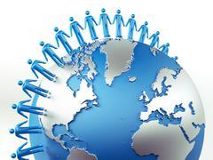 Stock Illustration of global communication concept.