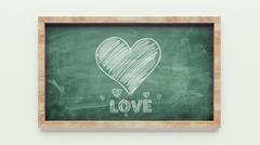 love chalkboard drawing - stock illustration