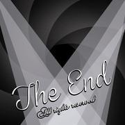 the end label over black background vector illustration - stock illustration