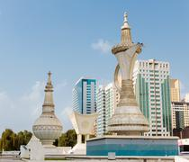 Stock Photo of monument  in abu dhabi