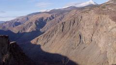 Stock video footage Imovie flight camera over the mountainous gorge Stock Footage