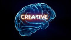 creative xray brain - stock illustration