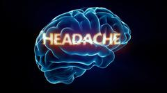 Headache xray brain Stock Illustration