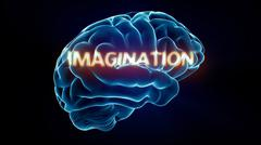 imagination xray brain - stock illustration