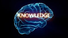 Knowledge xray brain Stock Illustration
