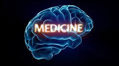 medicine xray brain - stock illustration