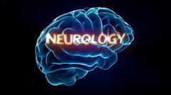 neurology xray brain - stock illustration