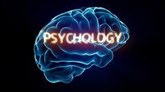 Psychology xray brain Stock Illustration