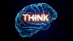 think xray brain - stock illustration