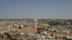 Jerusalem - Old City Skyline - 25P - UHD 4K Stock Footage