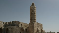 Jerusalem - Old City - Tower of David - 25P - UHD 4K Stock Footage