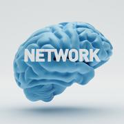 network brain - stock illustration