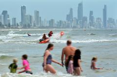 gold coast queensland australia - stock photo