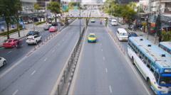 Timelapse of bangkok traffic at noon Stock Footage
