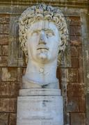 Ancient statue of roman emperor gaius julius caesar augustus at vatican museu Stock Photos