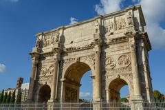 Arch of constantine, rome, italy. built to commemorate the emperor's victory Stock Photos