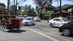 Philippine Cebu traffic Stock Footage