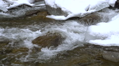 Stock Video Slow motion motion winter water ice Stock Footage