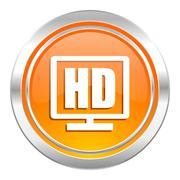 Stock Illustration of hd display icon.