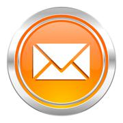 Email icon, post sign. Stock Illustration
