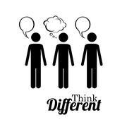 think diferent over white background vector illustration - stock illustration