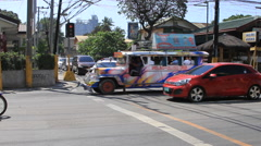 Traffic in the Philippines Stock Footage