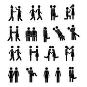 Couple icons over white background vector illustration Stock Illustration