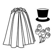 Married Design Stock Illustration