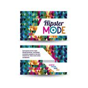 Hipster mode over triangles background vector ilustration Stock Illustration