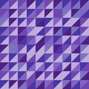 retro triangle pattern with violet background - stock illustration