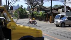 Philippine crossroad Stock Footage
