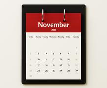 Stock Illustration of 2014 november calendar planning