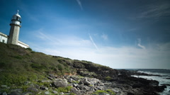 Lighthouse galicia coast sea ocean Stock Footage