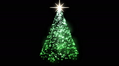 Rotating Christmas Tree Animation - Loop Green - stock footage