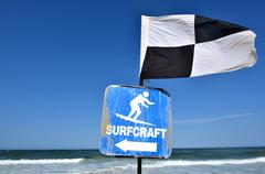 australian lifeguards .beach safety flags - stock photo