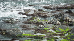 Galicia sea ocean coastline wild nature Stock Footage