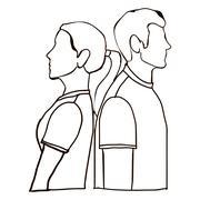 couple poses over white background vector illustration - stock illustration