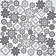 gears skin over white background vector illustration - stock illustration