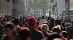 Many people walking on New York Street Stock Footage